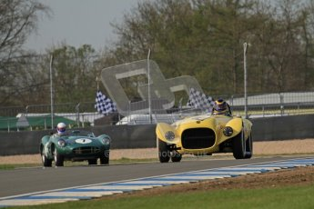 © Octane Photographic Ltd. 2012 Donington Historic Festival. Stirling Moss Trophy for pre-61 sportscars, qualifying. Old Yeller Mk.II - Ernest Nagamatsu. Digital Ref : 0321lw7d9789