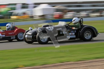 © Octane Photographic Ltd. 2012 Donington Historic Festival. Stirling Moss Trophy for pre-61 sportscars, qualifying. Kurtis 500S - Adam Singer. Digital Ref : 0321lw7d9950
