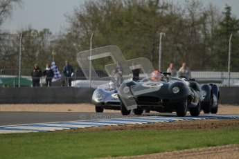 © Octane Photographic Ltd. 2012 Donington Historic Festival. Stirling Moss Trophy for pre-61 sportscars, qualifying. Lister Jaguar Costin - Chris Ward. Digital Ref : 0321lw7d9968