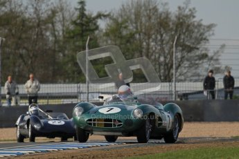 © Octane Photographic Ltd. 2012 Donington Historic Festival. Stirling Moss Trophy for pre-61 sportscars, qualifying. Aston-Martin DBR1 - Wolfgang Friedrichs,David Clark. Digital Ref : 0321lw7d9981