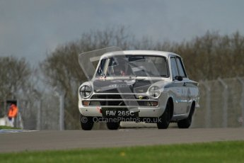 © Octane Photographic Ltd. 2012 Donington Historic Festival. U2TC. Ford Lotus Cortina - Graham Wilson, Martin Hood. Digital Ref : 0323lw7d0626