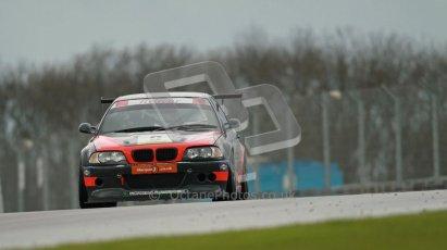 © Octane Photographic Ltd. Donington Park - General Test - 19th April 2012. Dan Malone, BMW330, BARC Dunlop Production Touring Car Trophy. Digital ref : 0297lw1d0030