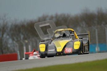 © Octane Photographic Ltd. Donington Park - General Test - 19th April 2012. Andy Cummings, Radical SR3RS, Radical Masters Euroseries. Digital ref : 0297lw1d0380