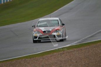 © Octane Photographic Ltd. Donington Park - General Test - 19th April 2012. Luke Caudle, Seat Leon, Production Touring Car Trophy. Digital ref : 0297lw1d8903