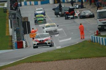 © Octane Photographic Ltd. Donington Park - General Test - 19th April 2012. Luke Caudle, Seat Leon, Production Touring Car Trophy. Digital ref : 0297lw1d9152