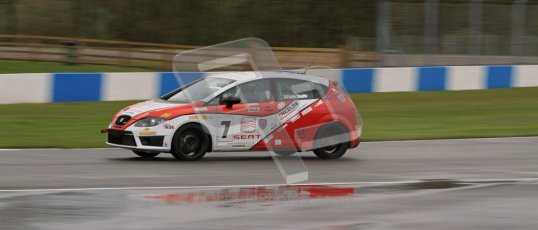 © Octane Photographic Ltd. Donington Park - General Test - 19th April 2012. Luke Caudle, Seat Leon, Production Touring Car Trophy. Digital ref : 0297lw7d5206