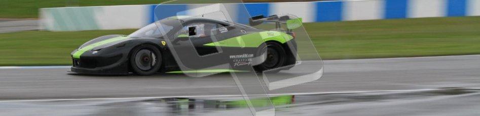© Octane Photographic Ltd. Donington Park - General Test - 19th April 2012. Derek Johnston, Graypaul Racing, Ferrari 458 Challenge. Digital ref : 0297lw7d5213