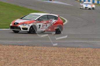 © Octane Photographic Ltd. Donington Park - General Test - 19th April 2012. Luke Caudle, Seat Leon, Production Touring Car Trophy. Digital ref : 0297lw7d5619