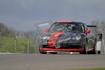 © Octane Photographic Ltd. Donington Park un-silenced general test day, 26th April 2012. Chris Bentley - British GT Cup - Porsche 996 GT3. Digital Ref : 0301lw7d9353