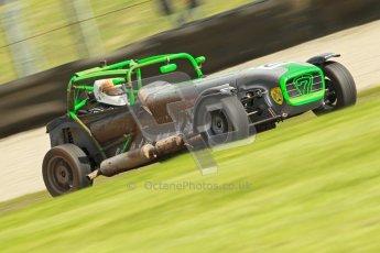 © Octane Photographic Ltd. Donington Park un-silenced general test day, 26th April 2012. David Wilkins - Caterham 7. Digital Ref : 0301cb1d3095