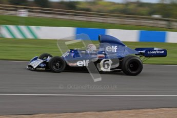 © Octane Photographic Ltd. Donington Park un-silenced general test day, 26th April 2012. John Delane, ex-Jackie Stewart Tyrrell 006, Historic F1 Championship. Digital Ref : 0301lw7d0133