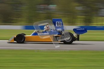 © Octane Photographic Ltd. Donington Park un-silenced general test day, 26th April 2012. Bob Berridge, Ex-John Watson, Surtees TS16, Master Grand Prix, Historic F1. Digital Ref : 0301lw7d8481
