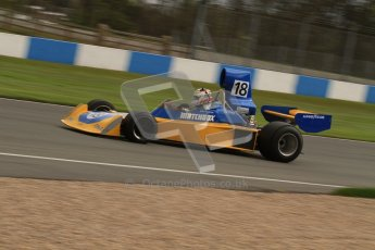 © Octane Photographic Ltd. Donington Park un-silenced general test day, 26th April 2012. Bob Berridge, Ex-John Watson, Surtees TS16, Master Grand Prix, Historic F1. Digital Ref : 0301lw7d9846