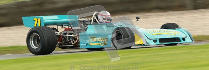 © Octane Photographic Ltd. Donington Park un-silenced general test day, 26th April 2012. Simon Taylor, Ex-Derek Bell Chevron B24 F5000. Digital Ref : 0301cb1d2919