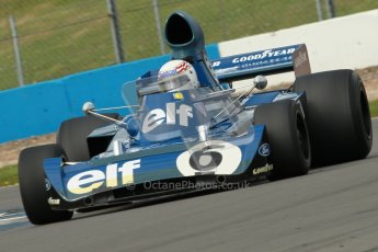 © Octane Photographic Ltd. Donington Park un-silenced general test day, 26th April 2012. John Delane, ex-Jackie Stewart Tyrrell 006, Historic F1 Championship. Digital Ref : 0301cb1d3538