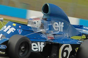 © Octane Photographic Ltd. Donington Park un-silenced general test day, 26th April 2012. John Delane, ex-Jackie Stewart Tyrrell 006, Historic F1 Championship. Digital Ref : 0301cb1d3585