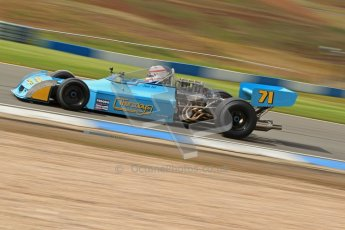 © Octane Photographic Ltd. Donington Park un-silenced general test day, 26th April 2012. Simon Taylor, Ex-Derek Bell Chevron B24 F5000. Digital Ref : 0301cb7d8142