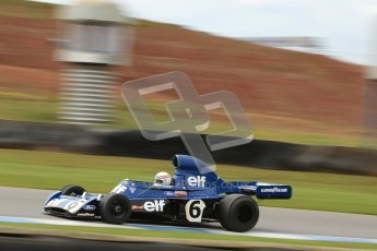 © Octane Photographic Ltd. Donington Park un-silenced general test day, 26th April 2012. John Delane, ex-Jackie Stewart Tyrrell 006, Historic F1 Championship. Digital Ref : 0301cb7d8304