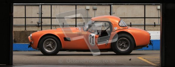 © Octane Photographic Ltd. Donington Park un-silenced general test day, 26th April 2012. Ingram/Chiles/Chiles Jr, AC Cobra. Digital Ref : 0301cb7d8376