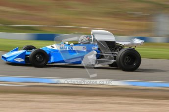 © Octane Photographic Ltd. Donington Park un-silenced general test day, 26th April 2012. Matra MS120 - Historic F1 Championship - Rob Hall. Digital Ref : 0301cb7d8128