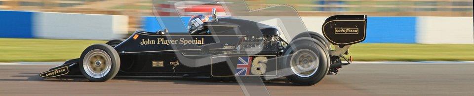 © Octane Photographic Ltd. Donington Park un-silenced general testing. Thursday 29th March 2012. Lotus 77 - Rob Hall, Historic F1. Digital Ref : 0261cb7d3791