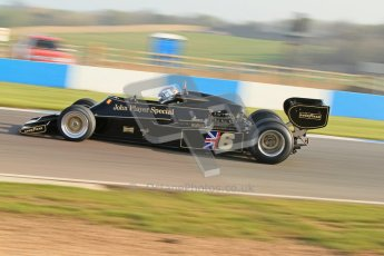 © Octane Photographic Ltd. Donington Park un-silenced general testing. Thursday 29th March 2012. Lotus 77 - Rob Hall, Historic F1. Digital Ref : 0261cb7d3864