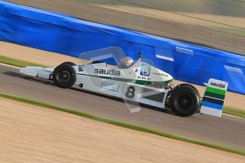 © Octane Photographic Ltd. Donington Park un-silenced general testing. Thursday 29th March 2012. Williams FW06 - Rob Hall, Historic F1. Digital Ref : 0261cb7d3995