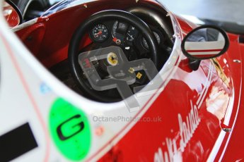 © Octane Photographic Ltd. Donington Park un-silenced general testing. Thursday 29th March 2012. Ferrari 312T, Historic F1. Digital Ref : 0261cb7d4277