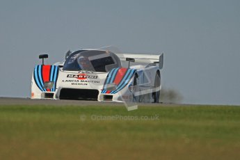 © Octane Photographic Ltd. Donington Park un-silenced general testing. Thursday 29th March 2012. Lancia LC2 - Rupert Clevely. Digital Ref : 0261cb7d4381