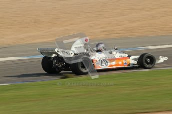 © Octane Photographic Ltd. Donington Park un-silenced general testing. Thursday 29th March 2012. McLaren M19, Historic F1. Digital Ref : 0261cb7d4881