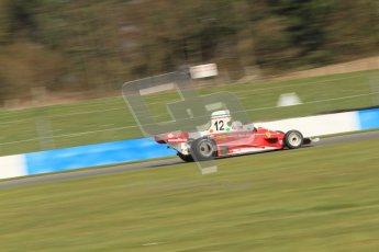 © Octane Photographic Ltd. Donington Park un-silenced general testing. Thursday 29th March 2012. Ex-Niki Lauda Ferrari 312T, Historic F1. Digital Ref : 0261cb7d4994