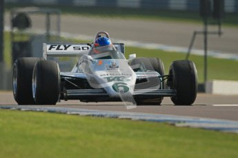 © Octane Photographic Ltd. Donington Park un-silenced general testing. Thursday 29th March 2012. Ex-Keke Rosberg Williams FW08, Historic F1. Digital Ref : 0261cb7d5431