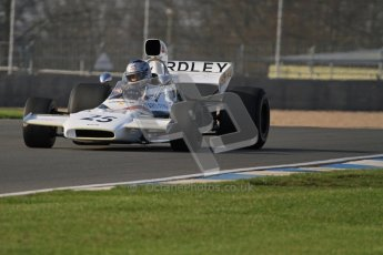 © Octane Photographic Ltd. Donington Park un-silenced general testing. Thursday 29th March 2012. McLaren M19, Historic F1. Digital Ref : 0261lw7d4348