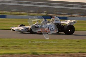 © Octane Photographic Ltd. Donington Park un-silenced general testing. Thursday 29th March 2012. McLaren M19, Historic F1. Digital Ref : 0261lw7d4526
