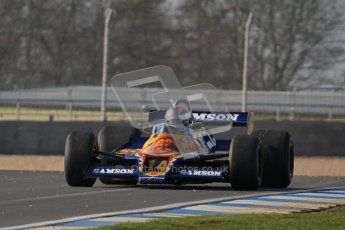 © Octane Photographic Ltd. Donington Park un-silenced general testing. Thursday 29th March 2012, Historic F1. Digital Ref : 0261lw7d4594