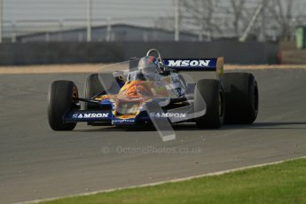 © Octane Photographic Ltd. Donington Park un-silenced general testing. Thursday 29th March 2012, Historic F1. Digital Ref : 0261lw7d4616