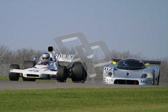 © Octane Photographic Ltd. Donington Park un-silenced general testing. Thursday 29th March 2012. McLaren M19, Historic F1 and Sauber C9 - Gareth Evans. Digital Ref : 0261lw7d4693
