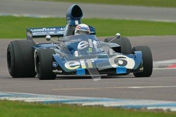 © Octane Photographic Ltd. Donington Park testing, May 3rd 2012. John Delane, ex-Jackie Stewart Tyrrell 006, Historic F1 Championship. Digital Ref : 0313cb1d6676