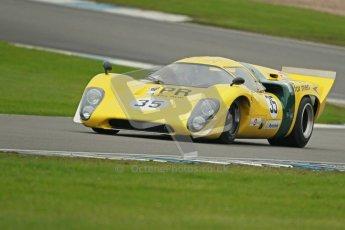 © Octane Photographic Ltd. Donington Park testing, May 3rd 2012. Lola T70. Digital Ref : 0313cb1d7395