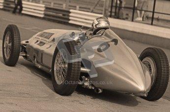© Octane Photographic Ltd. 2012. Donington Park - General Test Day. Thursday 16th August 2012. 1939 Mercedes W163, Historic F1. Digital Ref : 0458cb1d0356