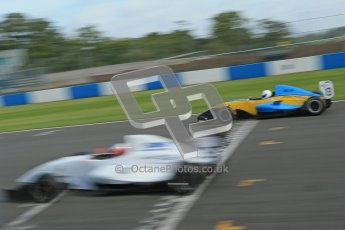 © Octane Photographic Ltd. 2012. Donington Park - General Test Day. Thursday 16th August 2012. Formula Renault BARC. Jake Dalton - MGR Motorsport and Oliver Sirrell - ACS Motorsport. Digital Ref : 0458cb1d0184