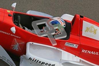 © Octane Photographic Ltd. 2012. Donington Park - General Test Day. Thursday 16th August 2012. Formula Renault BARC. Kieran Vernon - Hillspeed. Digital Ref : 0458cb1d0288