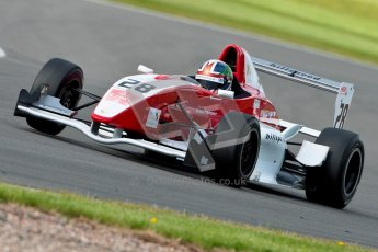 © Octane Photographic Ltd. 2012. Donington Park - General Test Day. Thursday 16th August 2012. Formula Renault BARC. Kieran Vernon - Hillspeed. Digital Ref : 0458ce1d0129