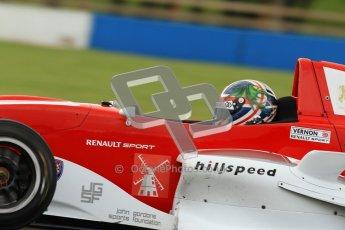 © Octane Photographic Ltd. 2012. Donington Park - General Test Day. Thursday 16th August 2012. Formula Renault BARC. Kieran Vernon - Hillspeed. Digital Ref : 0458lw7d0238