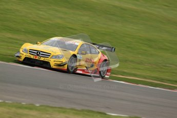 © Octane Photographic Ltd. 2012. DTM – Brands Hatch  - Friday Afternoon Practice. David Coulthard - Mercedes AMG C-Coupe - DHL Paket Mercedes AMG. Digital Ref :