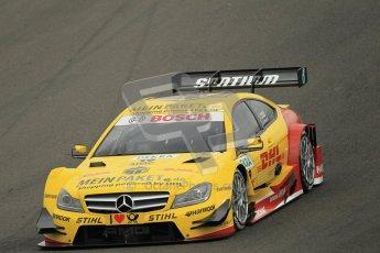 © Octane Photographic Ltd. 2012. DTM – Brands Hatch  - Friday Practice 1. David Coulthard - Mercedes AMG C-Coupe - DHL Paket Mercedes AMG. Digital Ref : 0340cb1d7128
