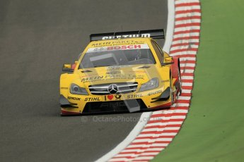 © Octane Photographic Ltd. 2012. DTM – Brands Hatch  - Friday Practice 1. David Coulthard - Mercedes AMG C-Coupe - DHL Paket Mercedes AMG. Digital Ref :