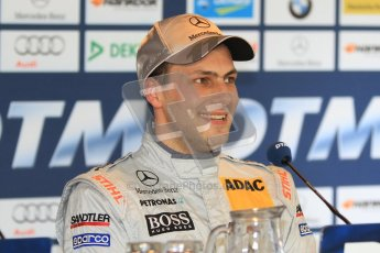 © Octane Photographic Ltd. 2012. DTM – Brands Hatch - Post-race press conference. Sunday 20th May 2012. Gary Paffett - AMG C-Coupe - Thomas Sabo Mercedes AMG. Digital Ref : 0346cb7d7277