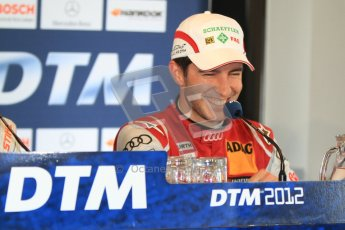 © Octane Photographic Ltd. 2012. DTM – Brands Hatch - Post-race press conference. Sunday 20th May 2012. Mike Rockenfeller - Audi A5 DTM - Audi Sport Team Phoenix. Digital Ref : 0346cb7d7323