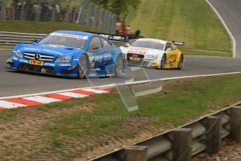 © Octane Photographic Ltd. 2012. DTM – Brands Hatch  - Race. Sunday 20th May 2012. Perrson Motorsport – Roberto Merhi and Timo Scheider - Audi A5 DTM - Audi Sport Team Abt Sportsline. Digital Ref :